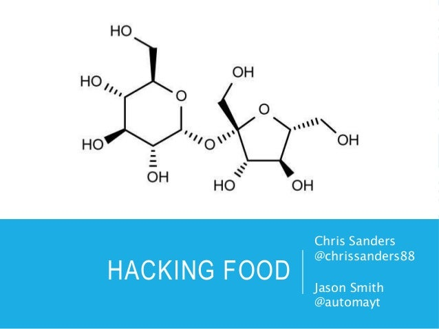 HACKING FOOD Chris Sanders @chrissanders88 Jason Smith @automayt