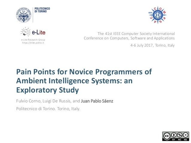 e-Lite Research Group https://elite.polito.it Pain Points for Novice Programmers of Ambient Intelligence Systems: an Explo...