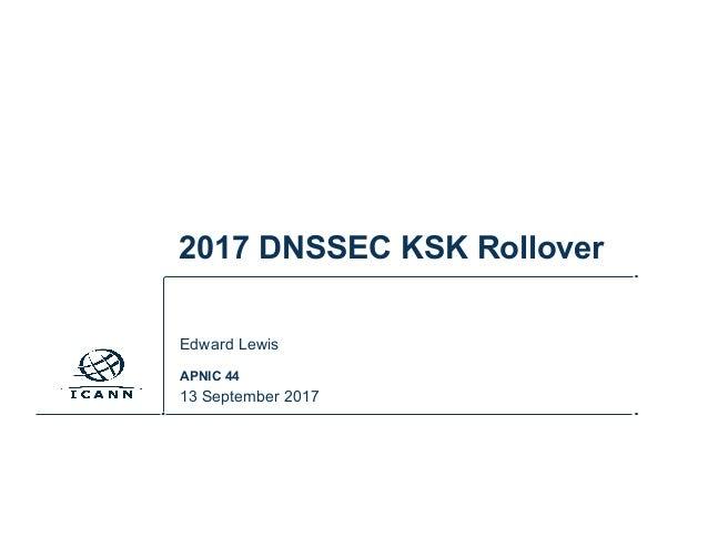 2017 DNSSEC KSK Rollover