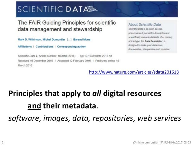 Principles that apply to all digital resources and their metadata. software, images, data, repositories, web services @mic...