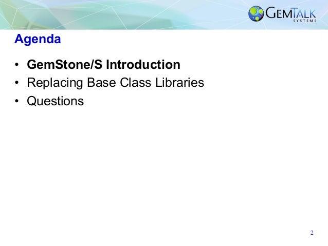 Running Pharo on the GemStone VM Slide 2