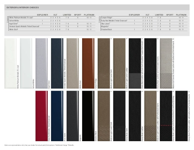 16 EXTERIOR INTERIOR CHOICES Colors