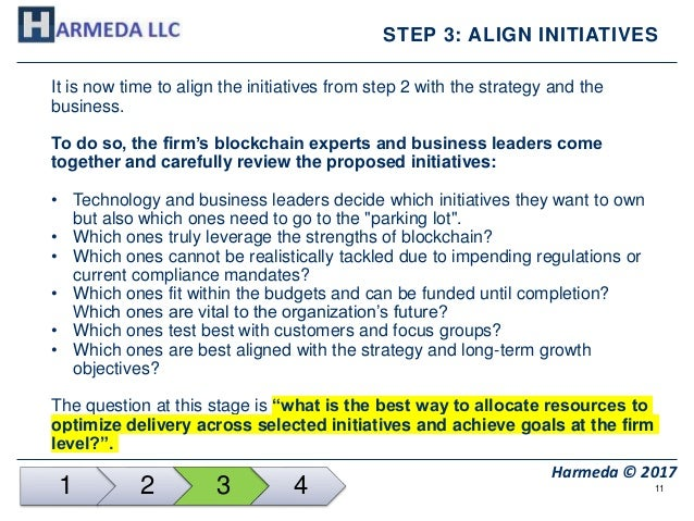 11 Harmeda © 2017 STEP 3: ALIGN INITIATIVES It is now time to align the initiatives from step 2 with the strategy and the ...