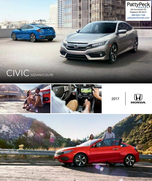 2017 honda civic brochure jackson area honda dealer for Honda dealership jackson ms