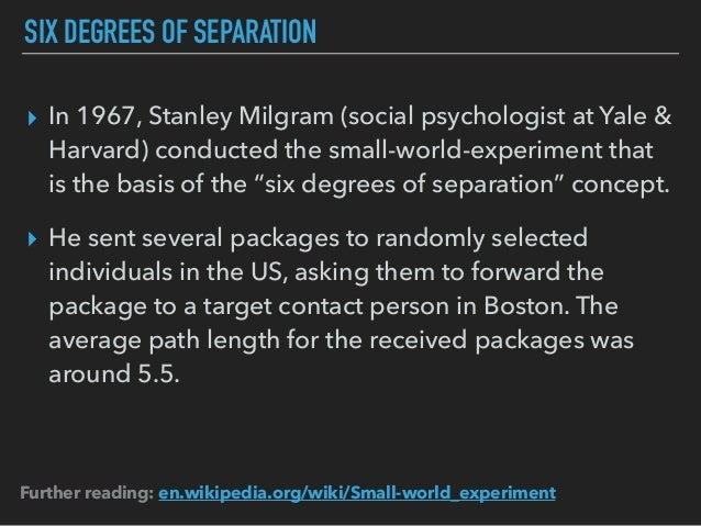 six degrees of separation analysis