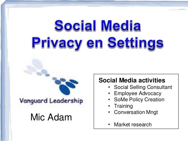 Mic Adam Social Media activities • Social Selling Consultant • Employee Advocacy • SoMe Policy Creation • Training • Conve...