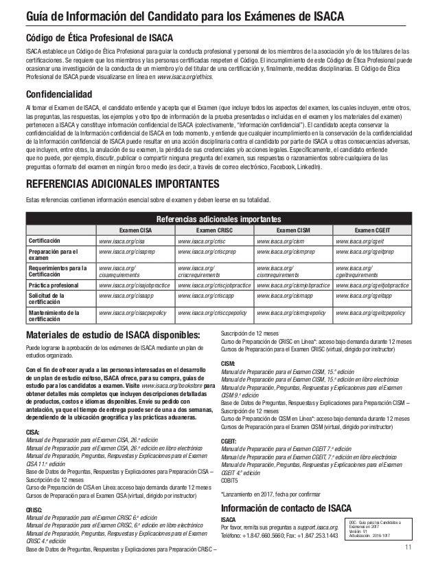 2017 isaca exam candidate information guide exp spa 1216 rh slideshare net