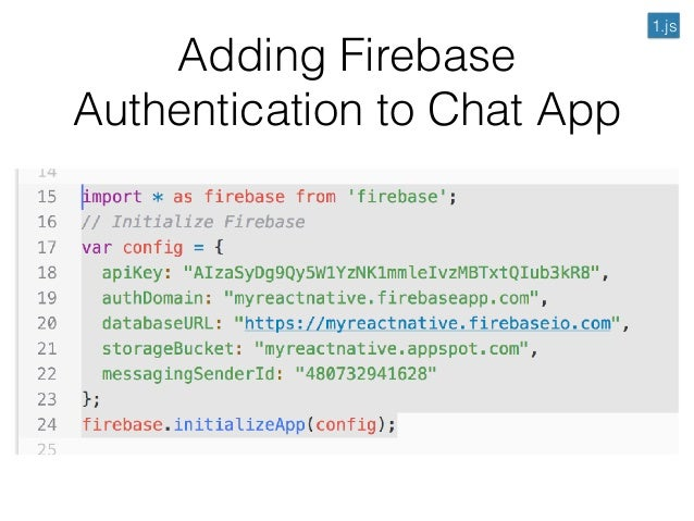 Lecture 12: React-Native Firebase Authentication