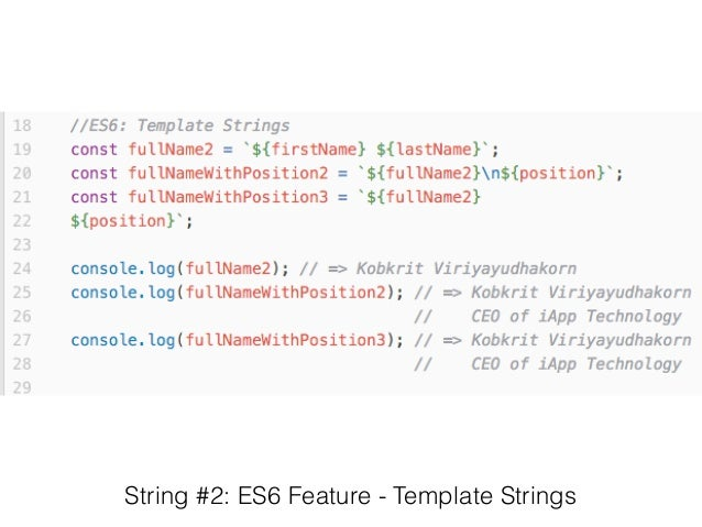 string 2 es6 feature template strings