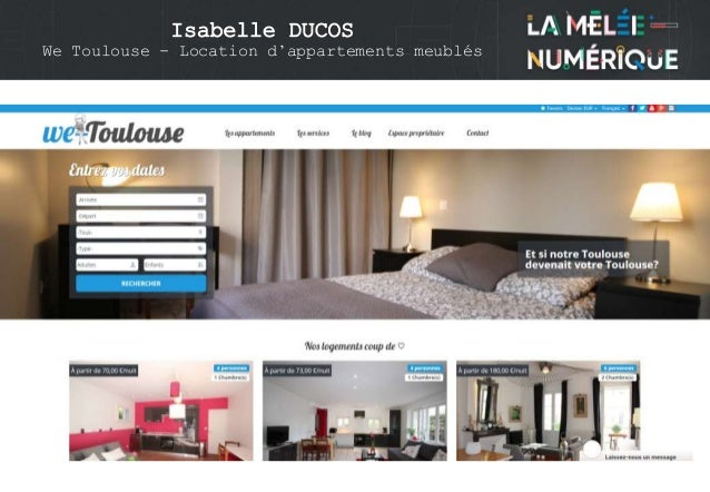 Isabelle DUCOS We Toulouse - Location d'appartements meublés