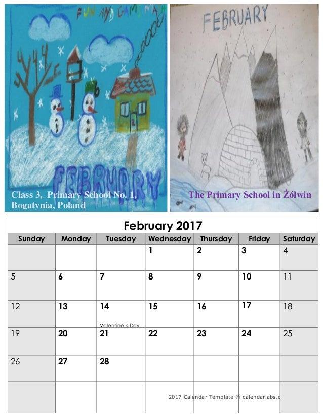 2017 Calendar Template © calendarlabs.com luty 2017 poniedziałek wtorek środa czwartek piątek sobota 1 2 3 4 5 ...