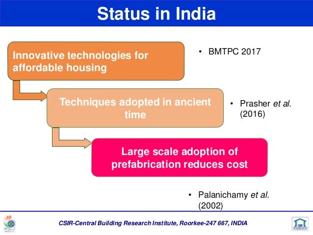 Prefabricated construction systems in India- Precast Status and neede…