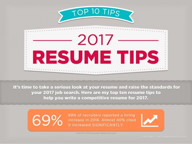 2017 Resume Tips Top 10 Resume Tips for 2017