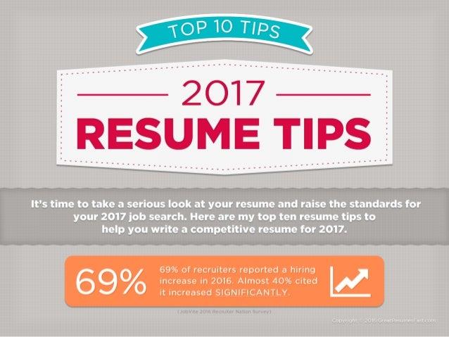 2017 Resume Tips   Top 10 Resume Tips For 2017  Top Resume Tips