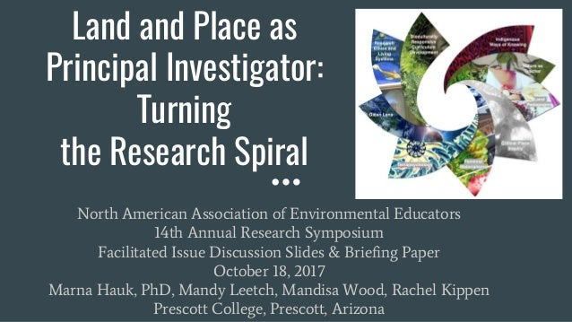 Land and Place as Principal Investigator: Turning the Research Spiral North American Association of Environmental Educator...