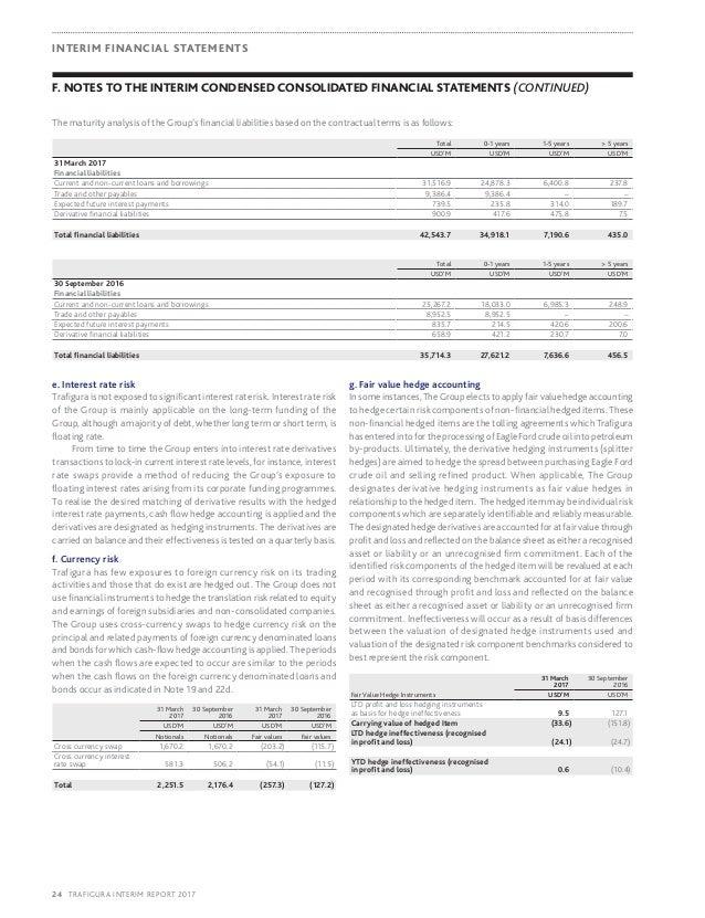 2017 Trafigura interim report period ended 31 march 2017