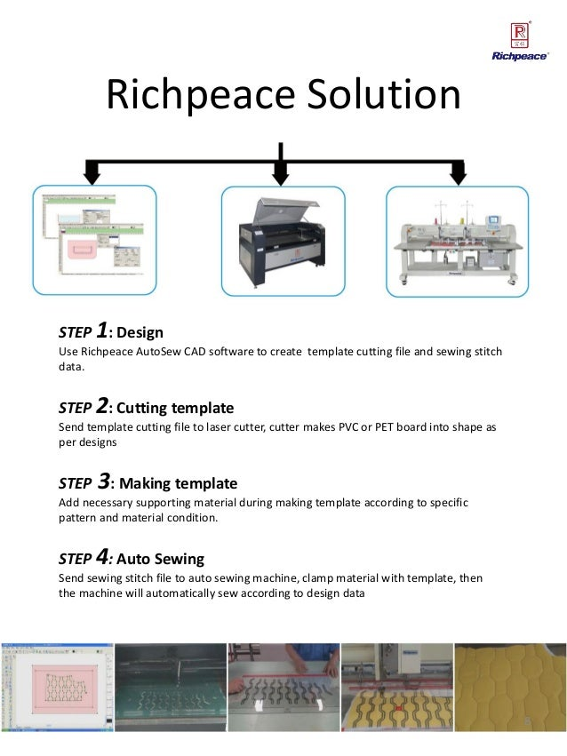 Presentation for richpeace auto sewing system on jacket & shirt produ…