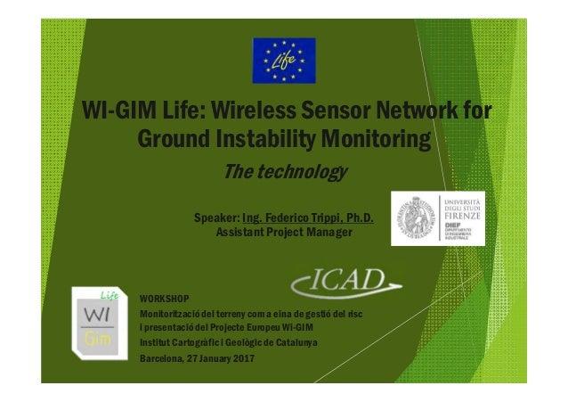 WI-GIM Life: Wireless Sensor Network for Ground Instability Monitoring The technology Speaker: Ing. Federico Trippi, Ph.D....