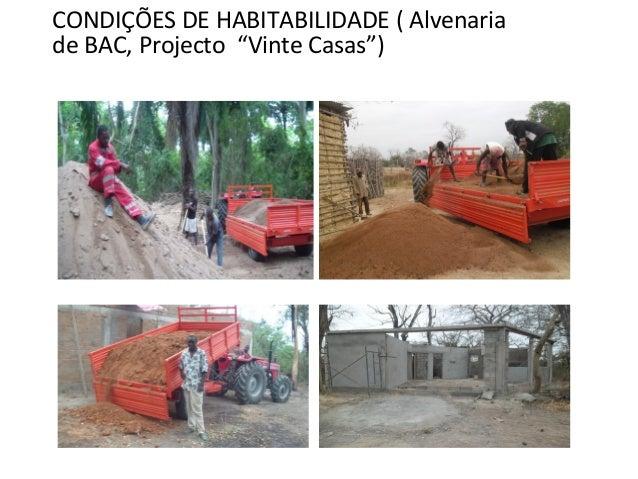 """CONDIÇÕES DE HABITABILIDADE ( Alvenaria de BAC, Projecto """"Vinte Casas"""")"""