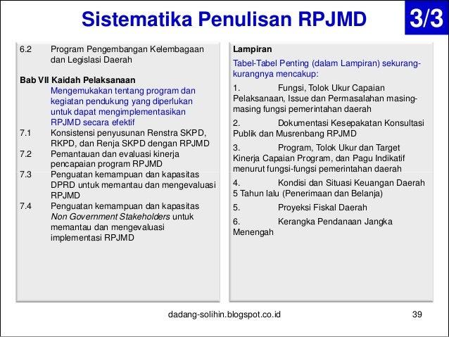 Penyusunan Dan Evaluasi Rpjmd Renstra Skpd Rkpd Dan Renja Skpd