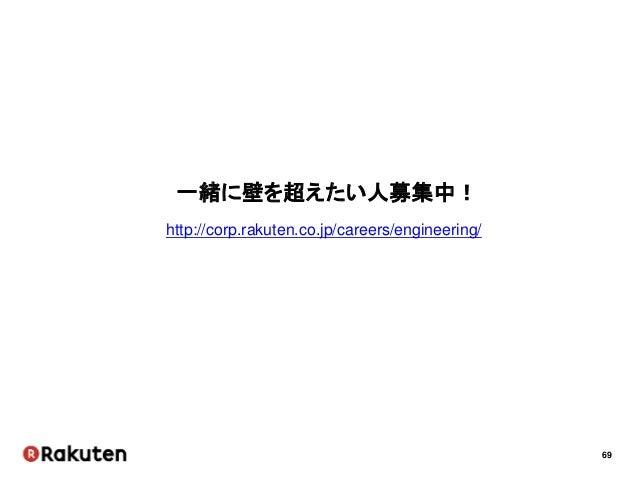 69 一緒に壁を超えたい人募集中! http://corp.rakuten.co.jp/careers/engineering/