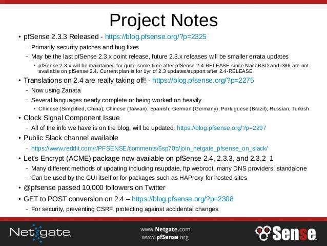 Advanced OpenVPN Concepts on pfSense 2.4 & 2.3.3 - pfSense Hangout February 2017 Slide 3