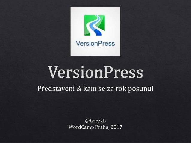žádný VersionPress!
