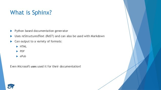 Maintainable Documentation with Sphinx