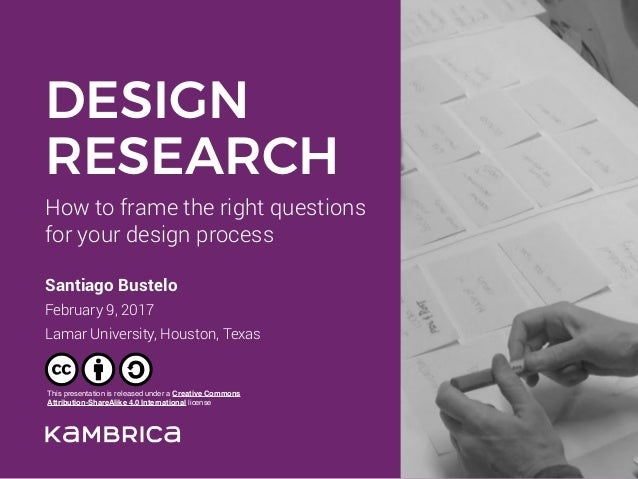 How to frame the right questions