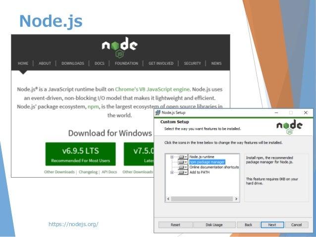 https://nodejs.org/ Node.js