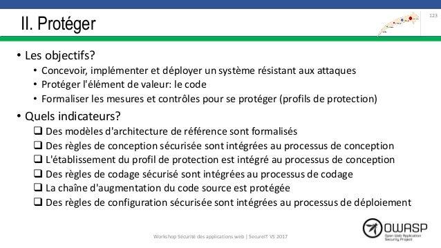 II. Protéger • Les objectifs? • Concevoir, implémenter et déployer un système résistant aux attaques • Protéger l'élément ...