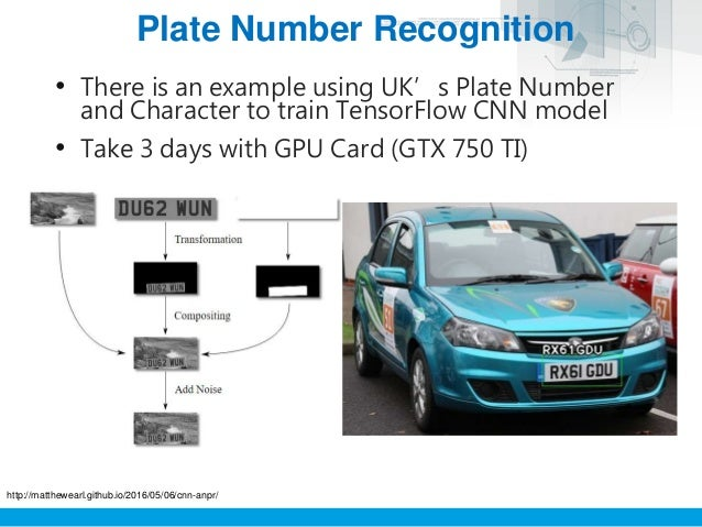 Tensorflow Number Plate Recognition
