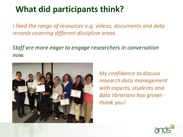 What did participants think? I liked the range of resources e.g. videos, documents and data records covering different dis...