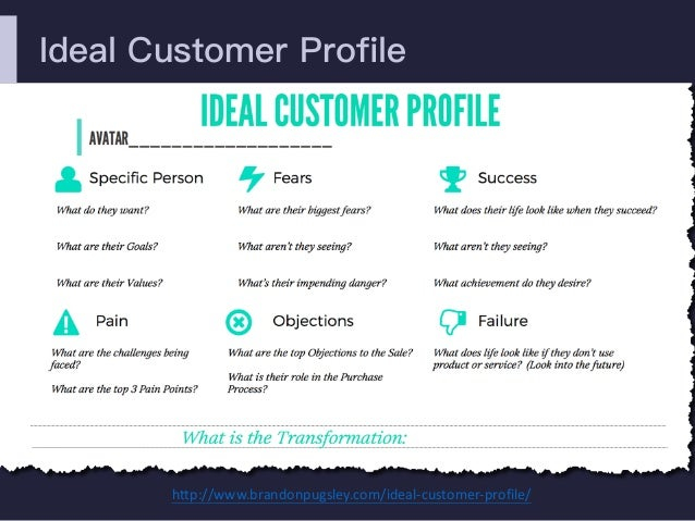 Ideal Customer Profile http://www.brandonpugsley.com/ideal-customer-profile/