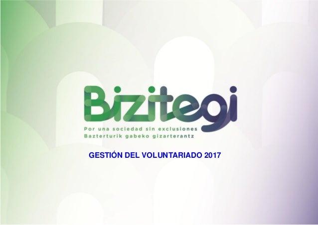 GESTIÓN DEL VOLUNTARIADO 2017