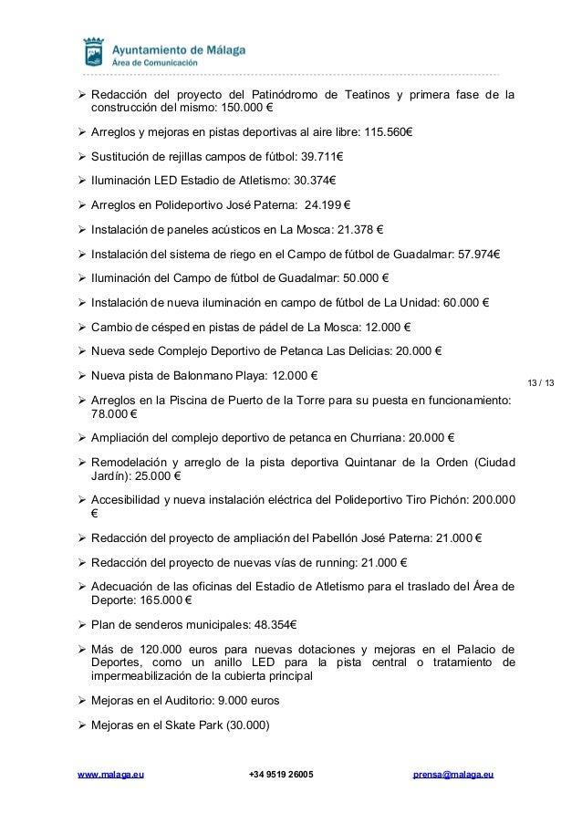 31b34fd52b67 EL ALCALDE PROPONE PARA 2017 UN PRESUPUESTO DE 749 MILLONES DE EUROS …
