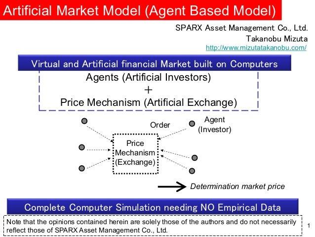 Agent (Investor) Order Price Mechanism (Exchange) Determination market price Artificial Market Model (Agent Based Model) 1...