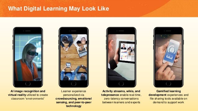 "What Digital Learning May Look Like AI image recognition and virtual reality utilized to create classroom ""environments"" L..."