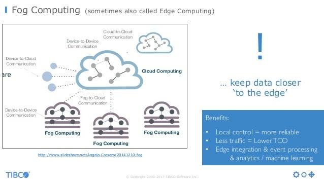 © Copyright 2000-2017 TIBCO Software Inc. Fog Computing (sometimes also called Edge Computing) http://www.slideshare.net/A...