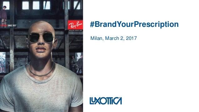 #BrandYourPrescription Milan, March 2, 2017