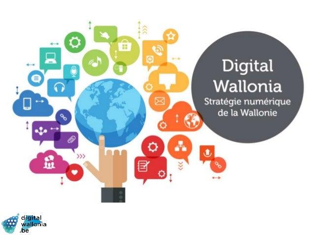 Digital Wallonia: Strategy for smart region Slide 1