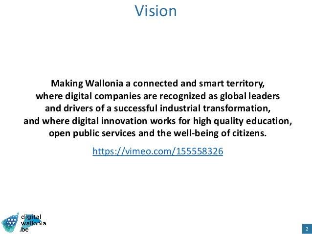 Digital Wallonia: Strategy for smart region Slide 2