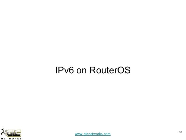 IPv6 on Mikrotik