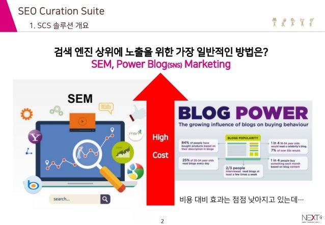 검색엔진 랭킹 상위 - scs(seo curation suite) 서비스 넥스트티 Slide 2