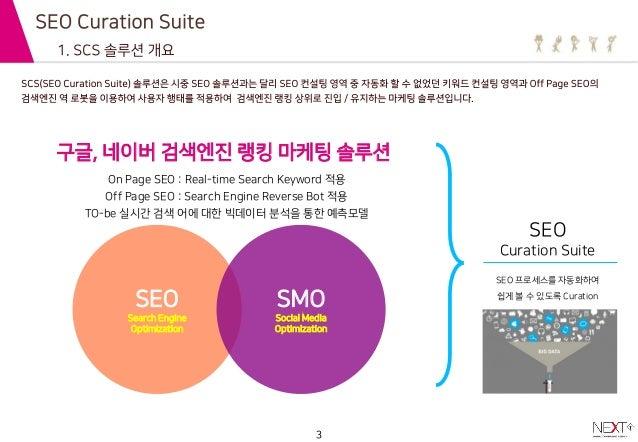 검색엔진 랭킹 상위 - scs(seo curation suite) 서비스 넥스트티 Slide 3