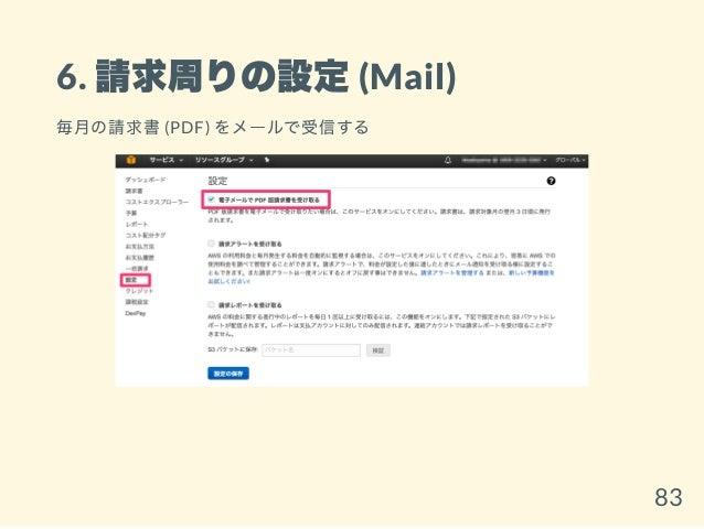 6. 請求周りの設定(Mail) 毎月の請求書(PDF) をメールで受信する 83