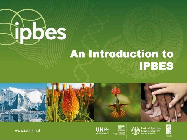 An Introduction to IPBES www.ipbes.net