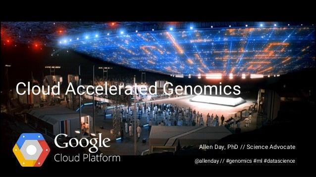 Cloud Accelerated Genomics Allen Day, PhD // Science Advocate @allenday // #genomics #ml #datascience
