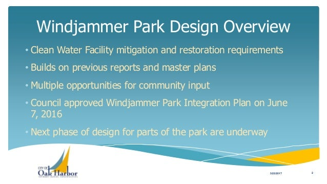Preview of Windjammer Park 30% Design to City Council Slide 2