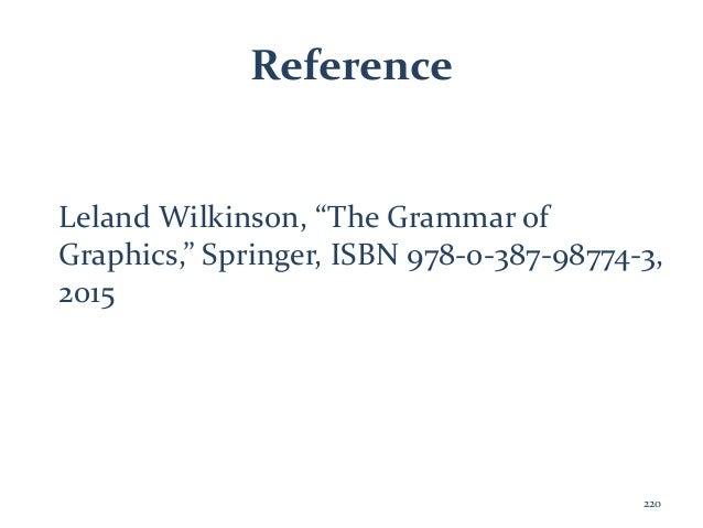 "Reference Leland Wilkinson, ""The Grammar of Graphics,"" Springer, ISBN 978-0-387-98774-3, 2015 220"
